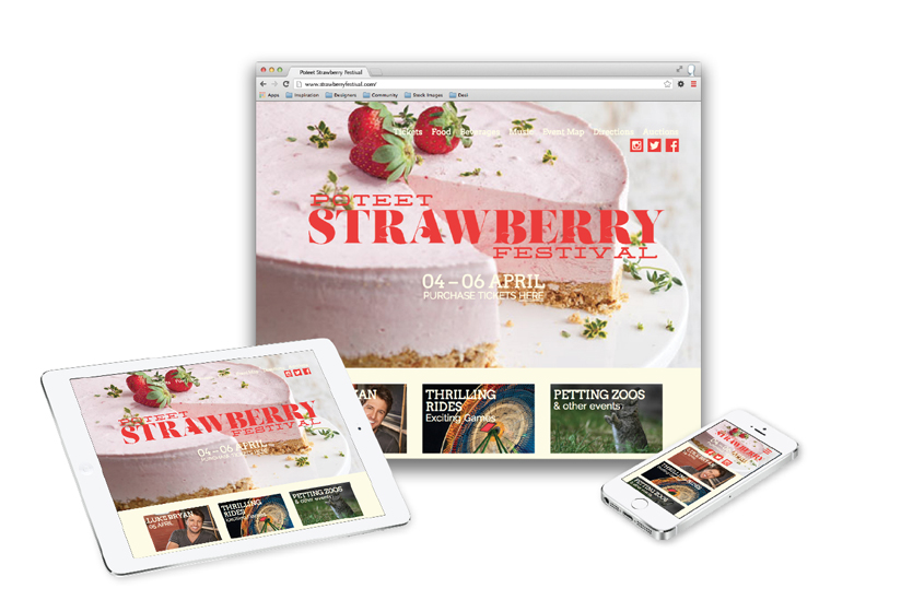 Poteet Strawberry Festival website redesign
